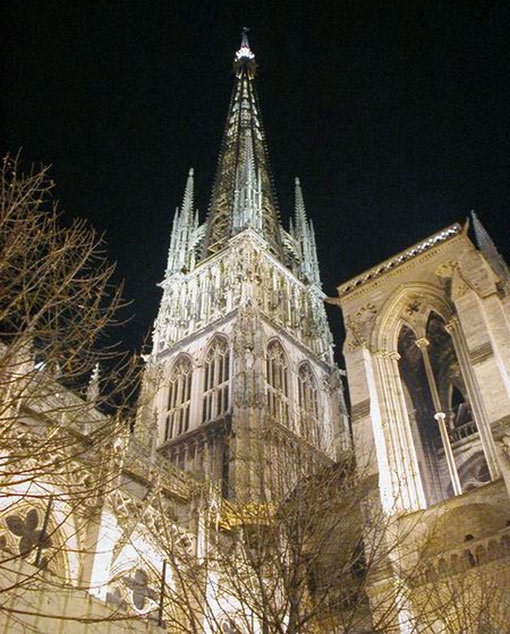 Rouen Cathedral, France (495 ft - 151 m)