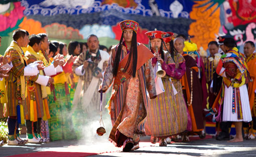 royal procession for his Majesty Jigme Khesar Namgyel Wangchuck