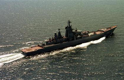 Russian Navy's 19,000-ton nuclear-powered cruiser Peter the Great, June 2003