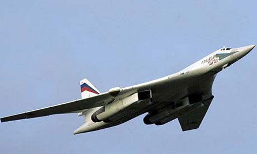 Russian Tu-160 strategic bomber