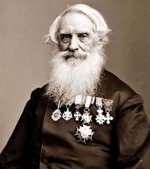 an important image of Samuel F. B. Morse taken between 1855 and 1865