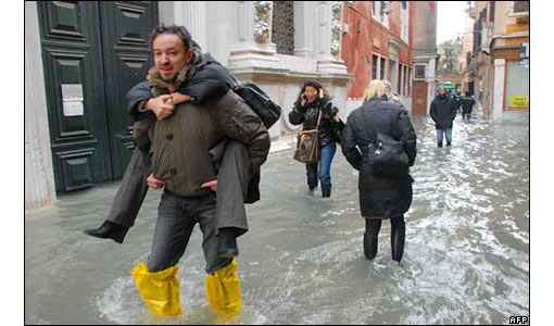 the Italian lagoon city of Venice in the Adriatic has suffered its highest flooding in more than 20 years