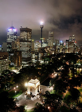 People in Sydney, Australia, turned off many lights for an hour on March 31, 2007. Here's the Sydney skyline before...