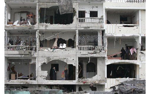 the sixth day of attacks: New Year's Day in Rafah