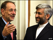 Mr Solana was on a charm offensive in Iran