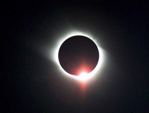solar eclipse seen in Jiuquan in northwest China's Gansu province 01 August 2008