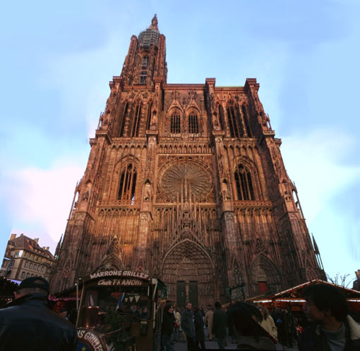 Strasbourg Cathedral, France (472 ft - 142 m)