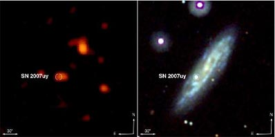 SN 2007uy in galaxy NGC 2770 before SN 2008D exploded
