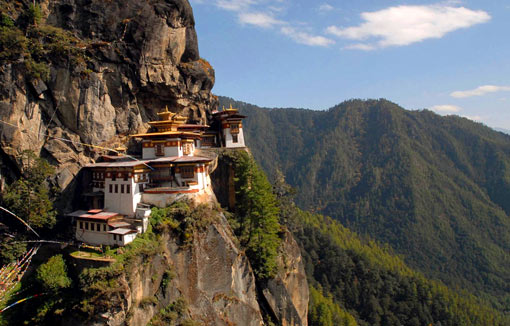 Taktshang Monastery in Bhutan, also called the Tiger's Nest