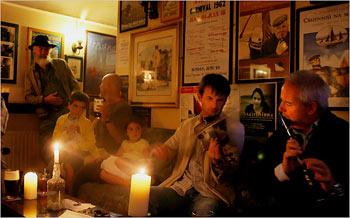 traditional music in a Kinvara pub