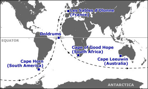 Vendee Globe route