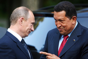 Chavez, right, supported Russia in its recent conflict with Georgia