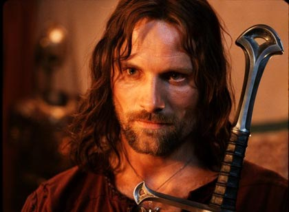 Viggo Mortensen as Aragorn in the movie Lord of the Rings – Return of the King