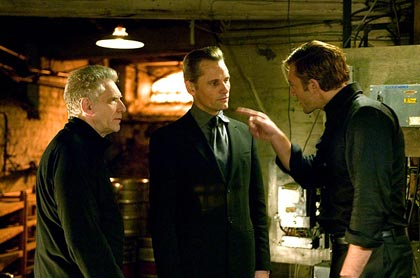 In 2007, Mortensen again teamed up with Cronenberg (to the left in the photo above) to make Eastern Promises, a story set against the backdrop of the Russian mob in London. His performance earned him both an Academy Award and Golden Globe nomination.