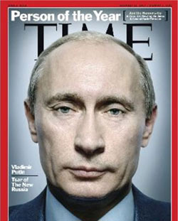 Times Magazine: 'Vladimir Putin, Tsar of the New Russia'