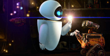 WALL-E only has eyes for Eve, an egg-shaped probe whose mission is to find life on Earth in the 28th century