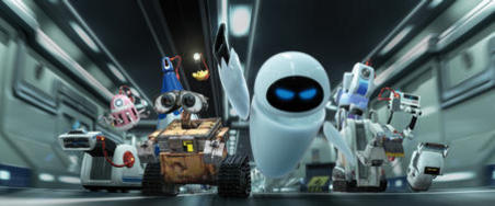 Wall-E and his heroic team of malfunctioning misfit robots stumbled upon the key to the planet's future in the movie Wall-E