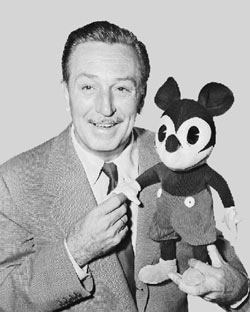 Walt Disney and Mickey Mouse, which starred in the first sound and animated feature in 1928. Disney went on to receive over 950 honors, including 48 Academy Awards and 7 Emmys