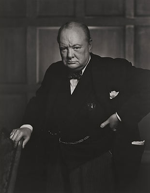 portrait photo of Winston Churchill taken by Yousuf Karsh