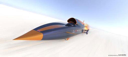 the car is designed not just to break the world land speed record – 763mph – but to obliterate it