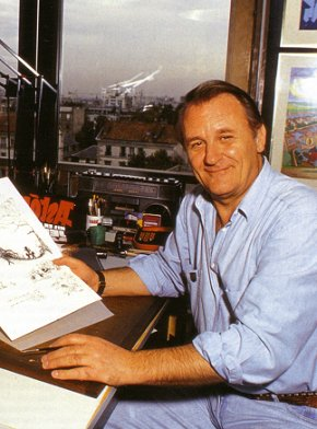 Albert Uderzo - illustrator of Asterix - in 1998