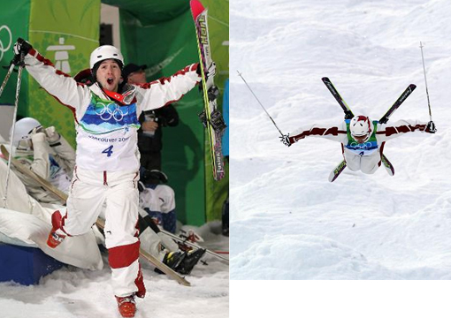 Alexandre Bilodeau of Canada wins gold medal for Freestyle Skiing Men's Moguls in 2010 Winter.