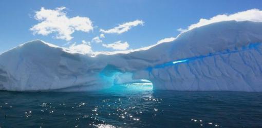 Antartic iceberg spotted floating near Australian island
