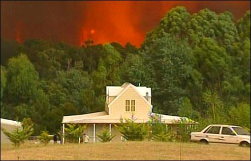 the heat has brought with it raging bush fires, which have already destroyed homes and buildings in the region