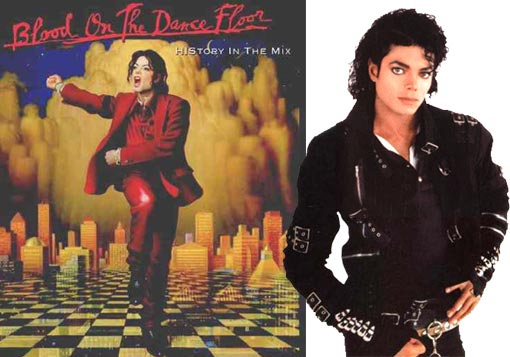 Left: Cover of Blood on the Dance Floor: HIStory in the Mix; Right: Michael Jackson's Bad, the album
