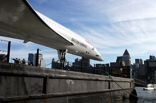 One of the British Airways jets becomes the newest addition to the Intrepid Sea Air Space Museum in New York.