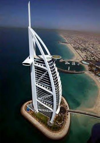 seven-star hotel, the Burj al-Arab in Dubai