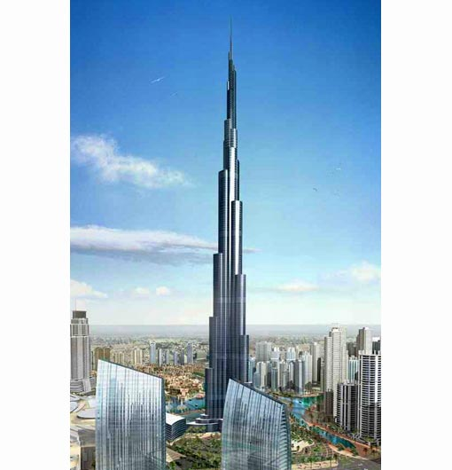 Burj Dubai, United Arab Emirates, to be completed in 2009 (2,684 ft - 818 m)