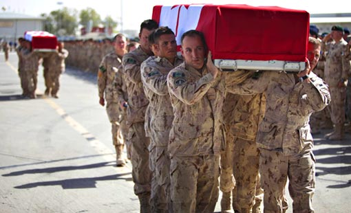 bodies of Canadian soldiers killed in Afghanistan head home