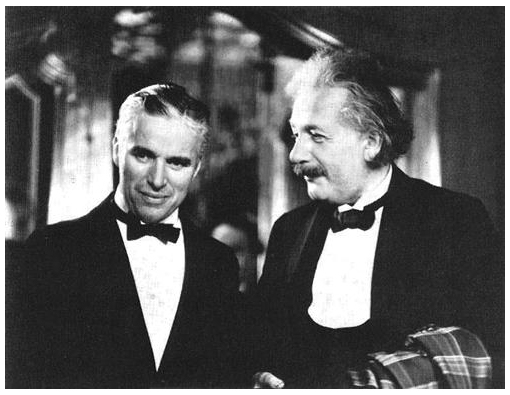 Chaplin with Einstein