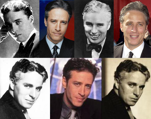 Daily Show's Jon Stewart Looks Like Charlie Chaplin
