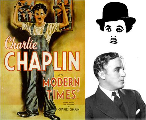 Charlie Chaplin in movie Modern Times