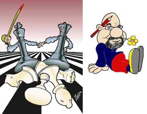 left: chess games - Kings and queens; right: talented humor cartoonist johnxag - It Don't Mean a Thing (If It Ain't Got That Swing)