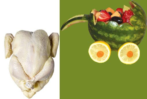 choices: poultry or fruits & vegetables