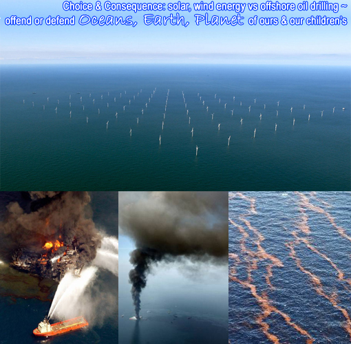 wind farm vs. offshore drilling: oil spill in Gulf of Mexico