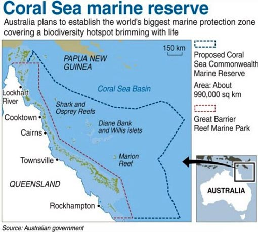 Australia plans to establish the world's biggest marine protection zone covering a biodiversity hotspot brimming with life