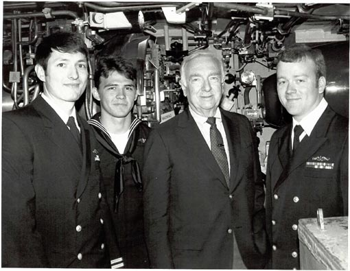 Walter Cronkite shot a documentary onboard the USS Hyman G.  Rickover (SSN 709) in 1986