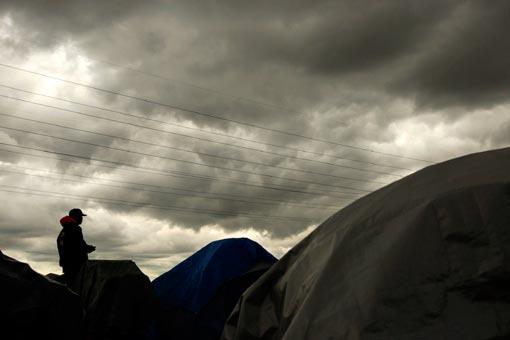 the vivid symbolism of Sacramento's tent city