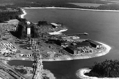 Orlando, Florida - in the late 1960s construction began on the shores of Bay Lake..the site of the future 1,057-room hotel in Decmeber 1970.