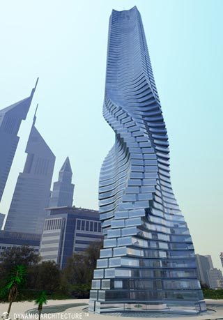Dynamic Tower - Building in Motion