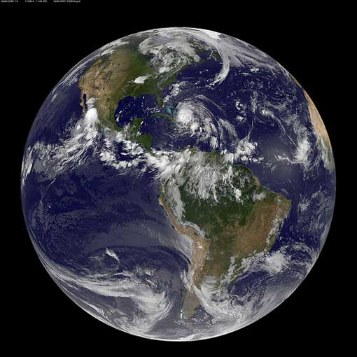 Full Disk Image of Earth Captured August 24, 2011