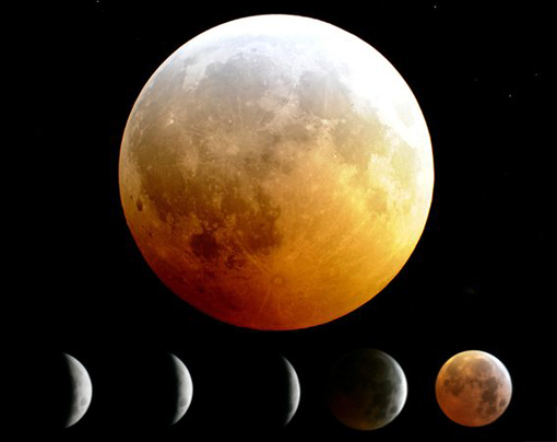 Dec 21, 2010: first time in 372 years - lunar eclipse on the same day as the Winter Solstice, and it's full moon