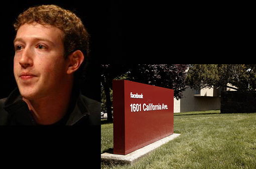 Facebook founder Mark Zuckerberg and headquarters
