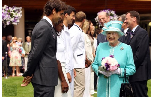 Wimbledon 2010: Queen Elizabeth II meets Williams sisters, Roddick, Federer, King, Navratilova