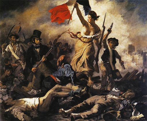 Eugene Delecroix's painting entitled: Liberty Leading the People