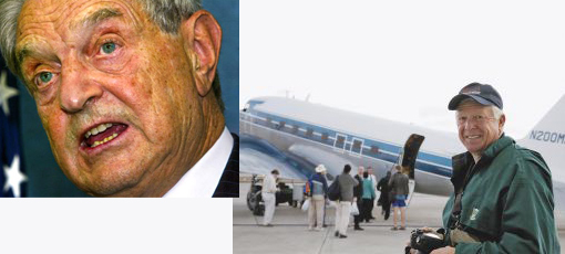 "Left: Billionaire investor George Soros. Right: Foster Friess flew to Haiti after this year's earthquake to deliver aid. His religious faith drives his philanthropy, he says: ""I believe we are merely stewards, not owners, of what God has given to us."""
